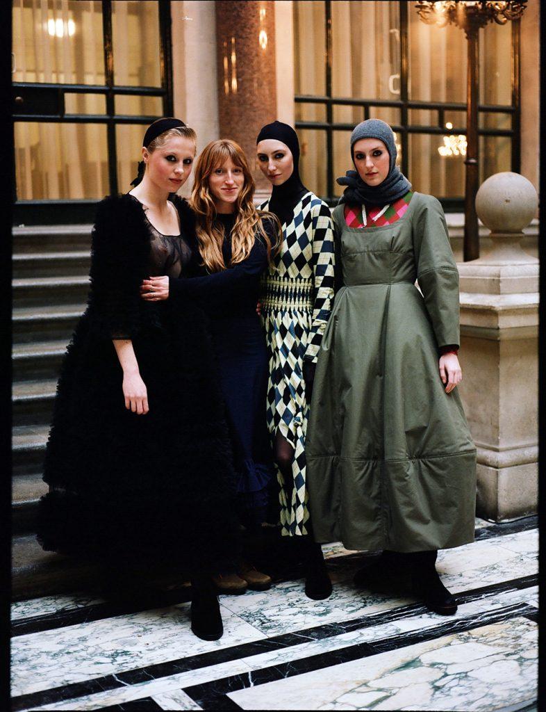Molly Goddard & her models, London February, 2019